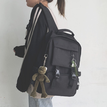 工装书an女韩款高中mo大容量15.6寸电脑背包男时尚潮流双肩包