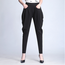 哈伦裤an春夏202es新式显瘦高腰垂感(小)脚萝卜裤大码马裤