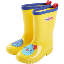 huganii男童女ie水鞋幼儿雨靴(小)学生中筒轻便防滑胶鞋