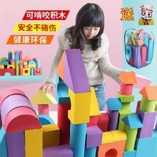 积木块an角砖头软体ie班4-5-6-7岁拼接家庭8岁女孩。