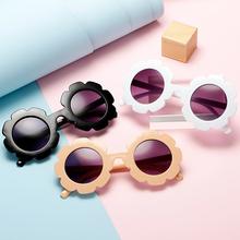 新式儿an太阳镜可爱no女童墨镜夏日遮阳防紫外线(小)孩装饰眼镜