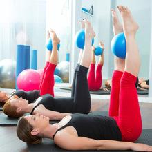 瑜伽(小)an普拉提(小)球er背球麦管球体操球健身球瑜伽球25cm平衡
