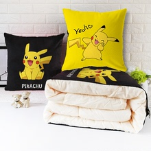 多功能an枕被子两用la可爱卡通动漫皮卡丘礼品办公室午睡个性