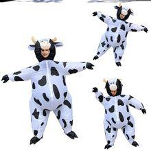 奶牛充an服装万圣节on偶玩偶行走搞怪的物全身开业庆典表演衣