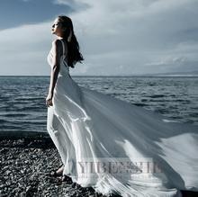 波西米an吊带不规则ar女露背结婚拍照礼服海边沙滩度假长裙夏