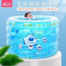诺澳 新生婴儿宝宝充气游泳池家用an13厚儿童an水池泡澡桶
