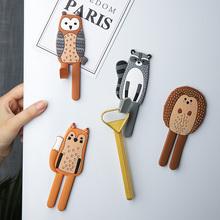 舍里 an通可爱动物wo钩北欧创意早教白板磁贴钥匙挂钩