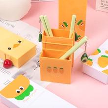 折叠笔an(小)清新笔筒qi能学生创意个性可爱可站立文具盒铅笔盒