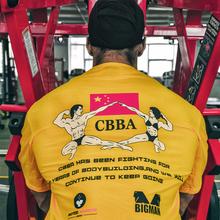 biganan原创设xx20年CBBA健美健身T恤男宽松运动短袖背心上衣女