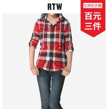 RTW连帽格子衬衫女20