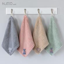 3条装擦手巾挂式比纯棉软珊瑚绒厨ap13家用卡rt加厚方巾