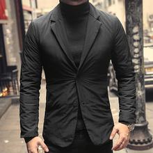 特价 包邮 ap3装轻便保rt绒西装 男装修身西装领羽绒服WF907