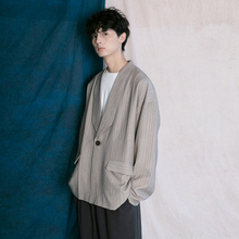 蒙马特ap生 韩款西la男 秋季慵懒风潮的BF男女条纹百搭上衣