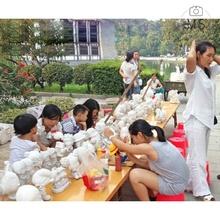 涂色石ap娃娃彩绘白nddiy手工制作搪胶陶瓷摆地摊存钱罐玩具