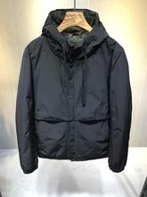 男士连ap夹克202rt新式黑色修身棉衣外套纯色短式简约上衣