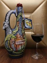 进口酒ap鲁吉亚彩陶pr装葡萄酒干红1000ml艺术酒瓶摆件酒送礼
