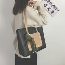 包包女aq2021新fu大容量韩款托特包手提包女单肩包百搭子母包