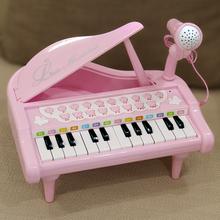 宝丽/aqaoli po具宝宝音乐早教电子琴带麦克风女孩礼物