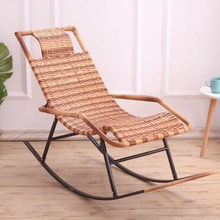 摇椅子aq室午沙发椅po艺藤艺成的休藤躺椅老的欧式编织送躺椅