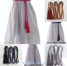 个性腰aq女士宫绦古an腰绳少女系带加长复古绑带连衣裙绳子