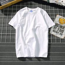 日系文aq潮牌男装tan衫情侣纯色纯棉打底衫夏季学生t恤