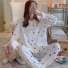 月子服春秋纯棉产后11月份孕妇睡aq13女怀孕an哺乳喂奶套装