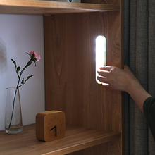 手压式aqED柜底灯an柜衣柜灯无线楼道走廊玄关粘贴灯条