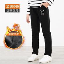 宝宝女aq女童裤子加an长裤加厚中大童运动裤冬季女孩保暖裤