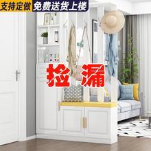 鞋柜带aq柜进门门口an功能家用一体客厅阻断屏风双面装饰镂空