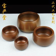 紫铜熏香钵炉茶道斑铜炉纯铜家用室内ar14熏炉檀om盘香香炉