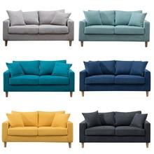 布艺北ar(小)户型客厅yl的三的简易出租房服装店网红沙发(小)户型