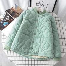 微胖女装棉衣女羊羔毛外套ar9季韩款加yl短式(小)棉袄加绒棉服