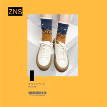 ZNSar020新式on妹真皮(小)白鞋板鞋复古平底鞋百搭休闲鞋女潮