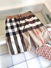 贸易定ar 20SSon式潮牌沙滩裤男 格子条纹五分裤大码休闲短裤