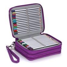 201ar新式大容量ld收纳笔袋笔帘美术彩铅笔帘学生文具盒包邮