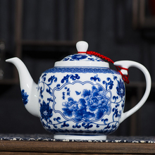 茶壶陶ar单壶大号泡r2套装功夫茶具带过滤青花瓷釉下彩景德镇