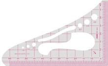 迪涵/DIHar3N 35r8能1/4比例尺三角板 日本文化三角尺 缩图尺