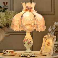 wanlang欧款台灯卧ar9床头灯个ic馨暖光可调光 床头台灯结婚