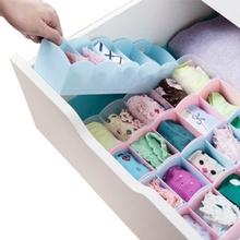 五格分类整理盒ar4衣内裤袜wi桌面抽屉分类可叠隔板储物框