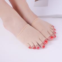 五指袜as0夏季前脚og式天鹅绒半截袜套薄式硅胶防滑浅口船袜