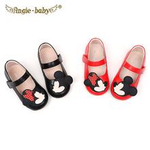 童鞋软as女童公主鞋yi0春新宝宝皮鞋(小)童女宝宝学步鞋牛皮豆豆鞋