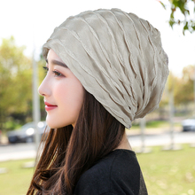 韩款新as帽子女薄式es时尚堆堆帽包头帽光头不透头巾帽月子帽