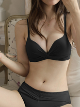 内衣女as薄式聚拢(小)st美背文胸无痕性感bra无钢圈调整型胸罩