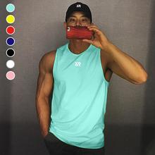 肌肉博as无袖背心男en动宽松短袖T恤潮牌ins健身衣服篮球训练