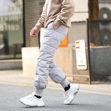 冬季灯笼羽绒裤男as5穿新式高en瘦修身英伦青年保暖棉裤潮