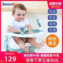 sweasby宝宝婴rr吃饭座椅多功能便携式宝宝外出带餐盘