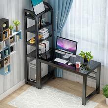 电脑桌as式家用子带an室经济型现代简约办公桌组合桌
