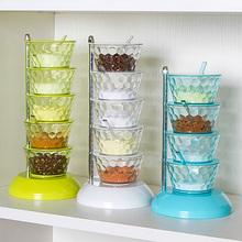 立式可at转多层调味ro调料架组合盐罐厨房家居用品家用