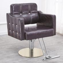 剪发椅at身馆美发椅pi适美容院旋转经济型可调节理发店椅子。