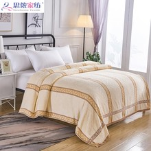 纯棉at双的老式怀ic全棉单的午休盖毯毛巾毯子毛毯床单